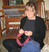 "Lauren Bouyea: ""I am knitting a sweater, have been knitting since 2000, when I took a class at school."""